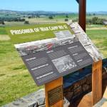 Cowra Prisoner of War Camp viewing platform signage