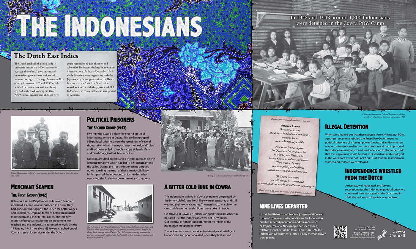 Cowra POW Camp Indonesian sign