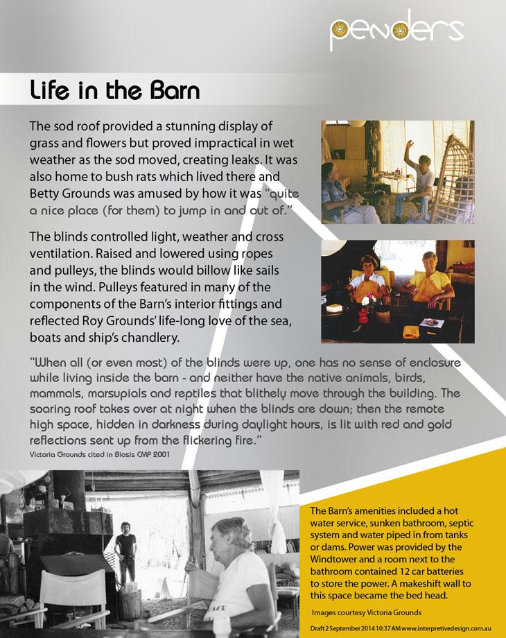 Heritage Interpretive Signage - Life in the Barn