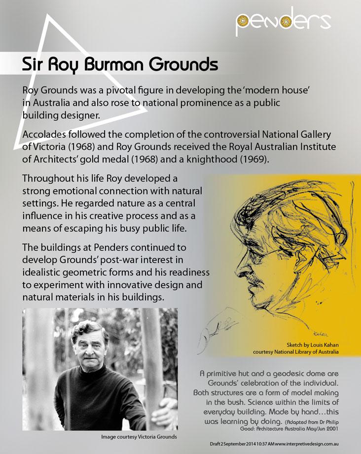 Heritage Interpretive Signage - Sir Roy Grounds
