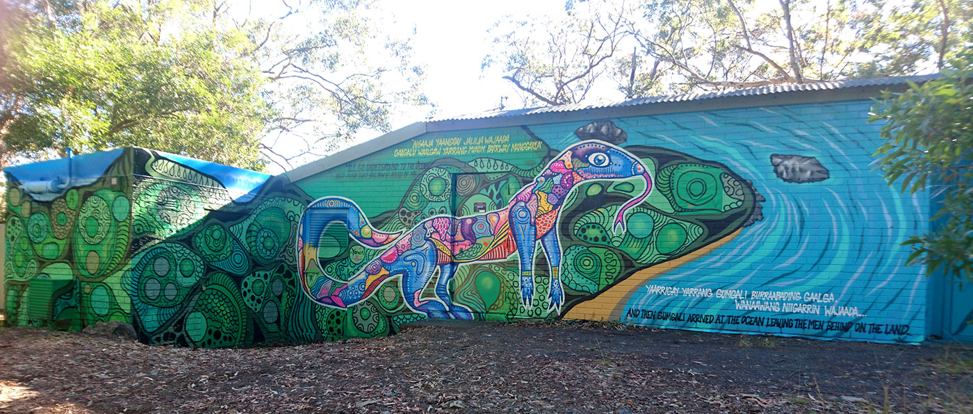 Korora Lookout - interpretive visitor experience - wall art