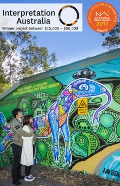 Interpretive murals, Gumgali Track, Korora Lookout