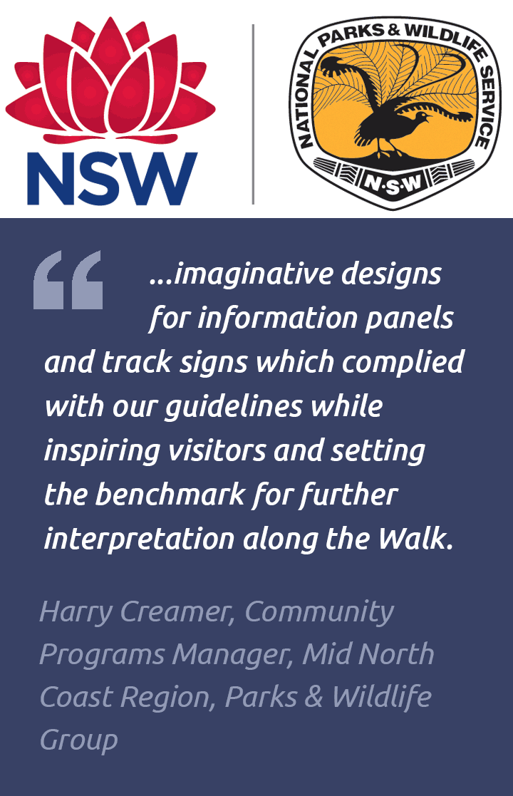 Artwork testimonial for walking track, NPWS
