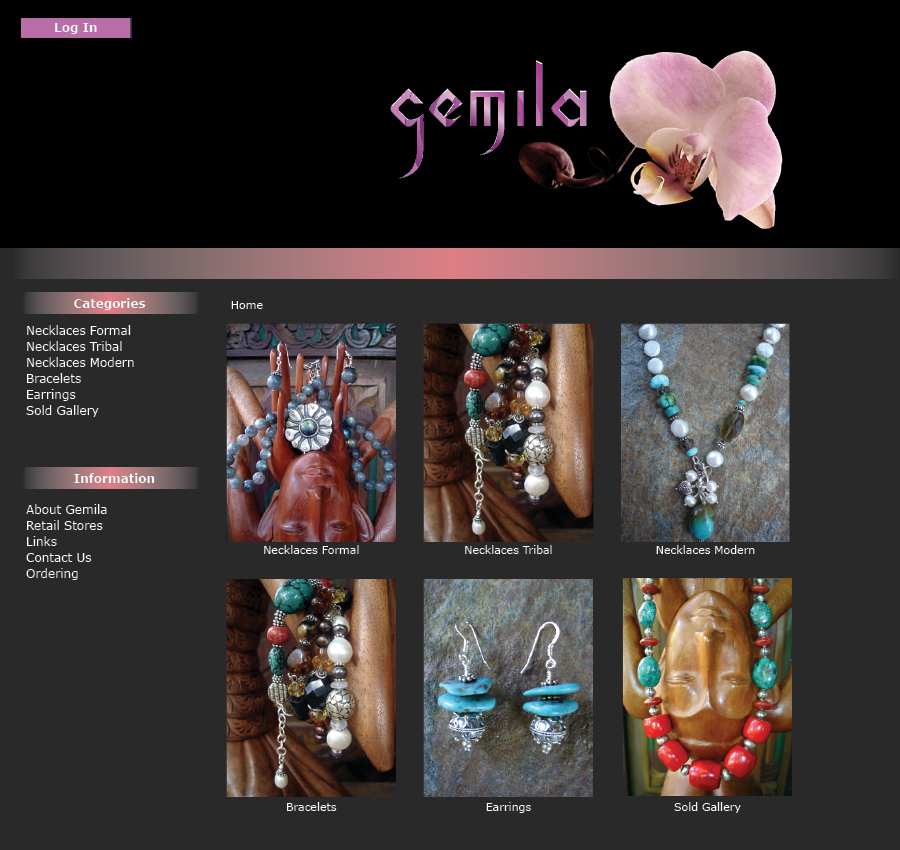 Gemila Website ecommerce design