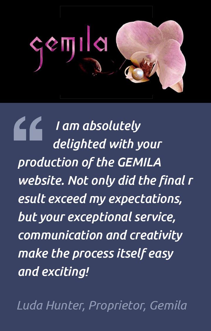 Ecommerce Website Testimonial – Gemila