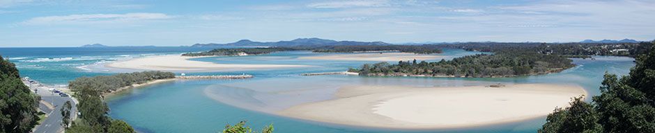 Nambucca Panoram for Captain Cooks Lookout