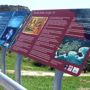 Gumbaynggir signage at Scotts Head
