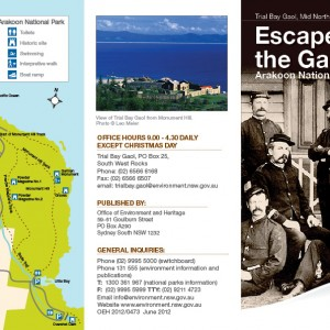 Trial Bay Gaol Brochure design