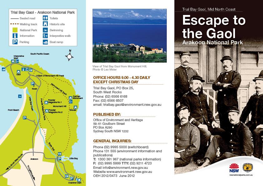 Trial Bay Gaol Brochure