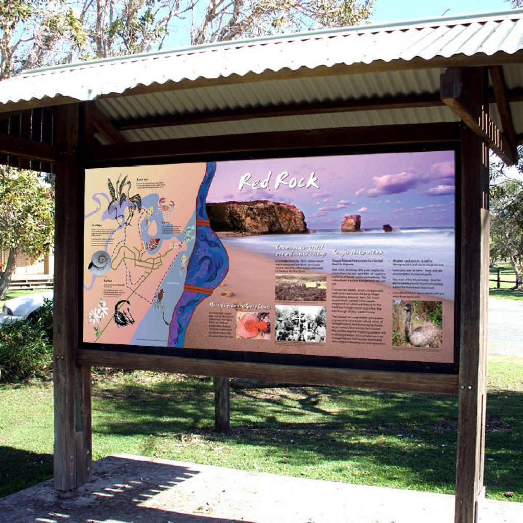 Solitary Islands Coastal Walk Red Rock Aboriginal Sign