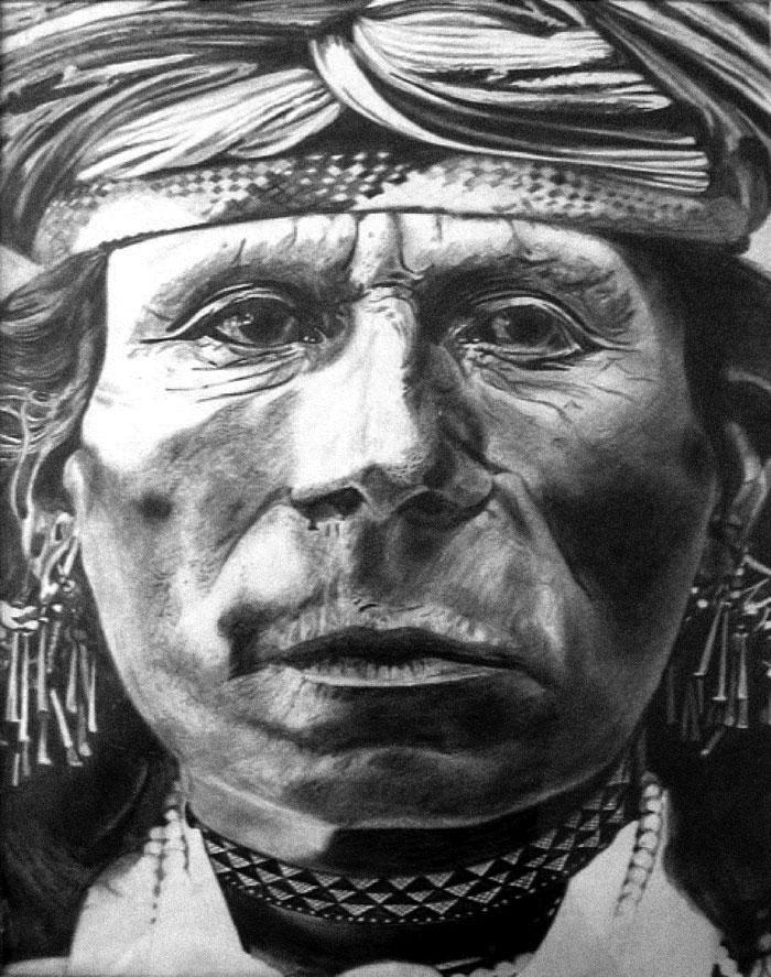 Dee Rogers Artwork - Indian Man