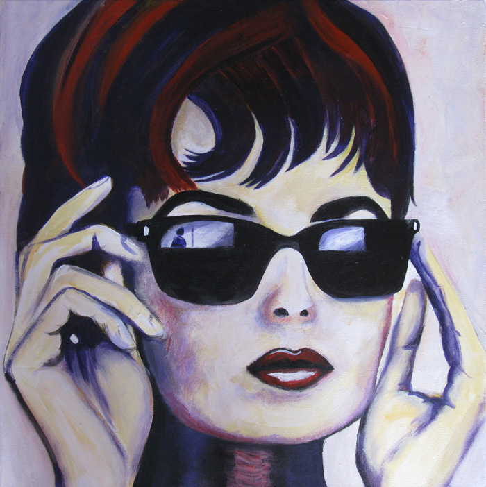 Painting of Audrey Hepburn by Dee Rogers