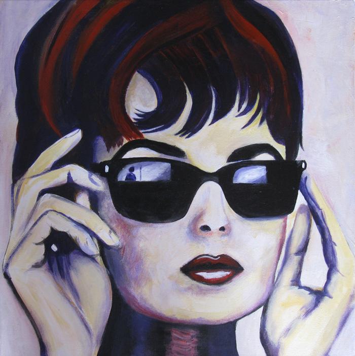 Painting of Audrey Hepburn by Dee Rogers