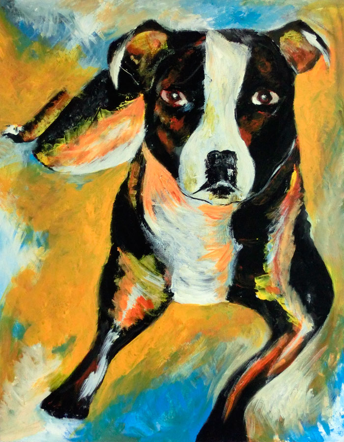 Panda the Staffie by Dee Rogers