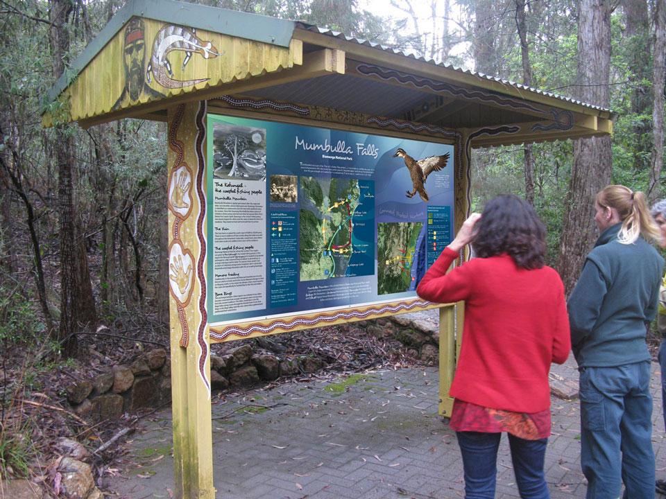 Cultural Heritage Signs, Mumbulla Falls