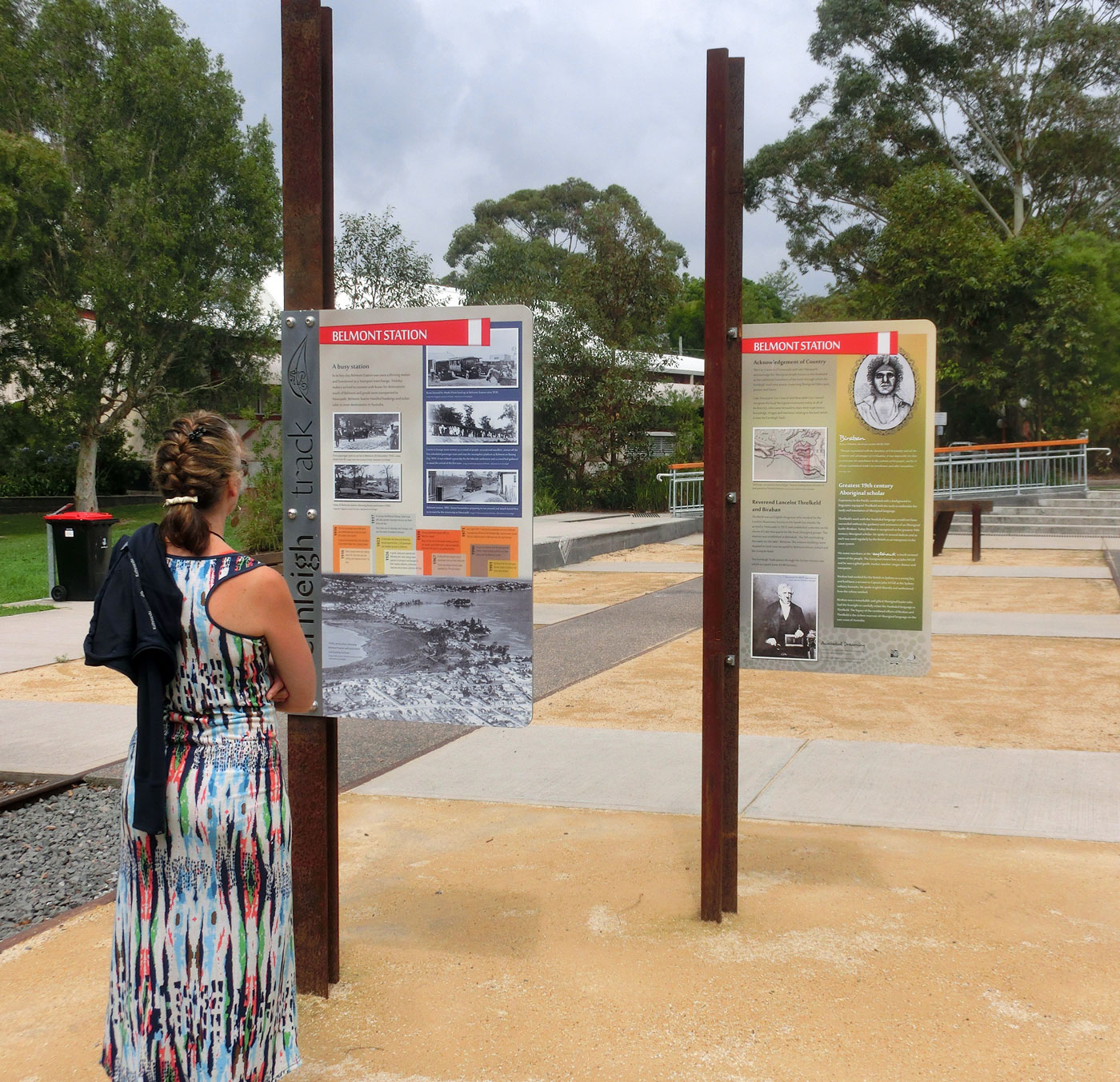 Fernleigh Track rail trail signage