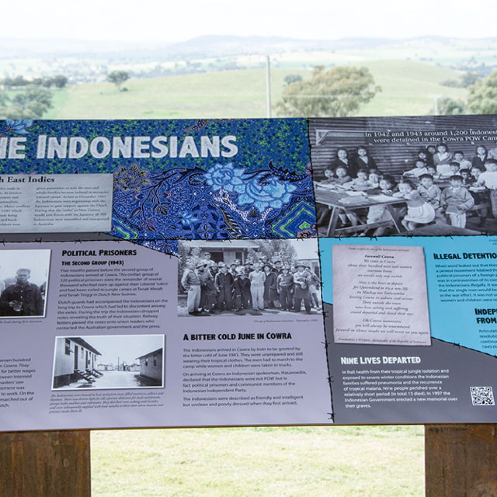 Cowra POW Camp Indonesian war history signs