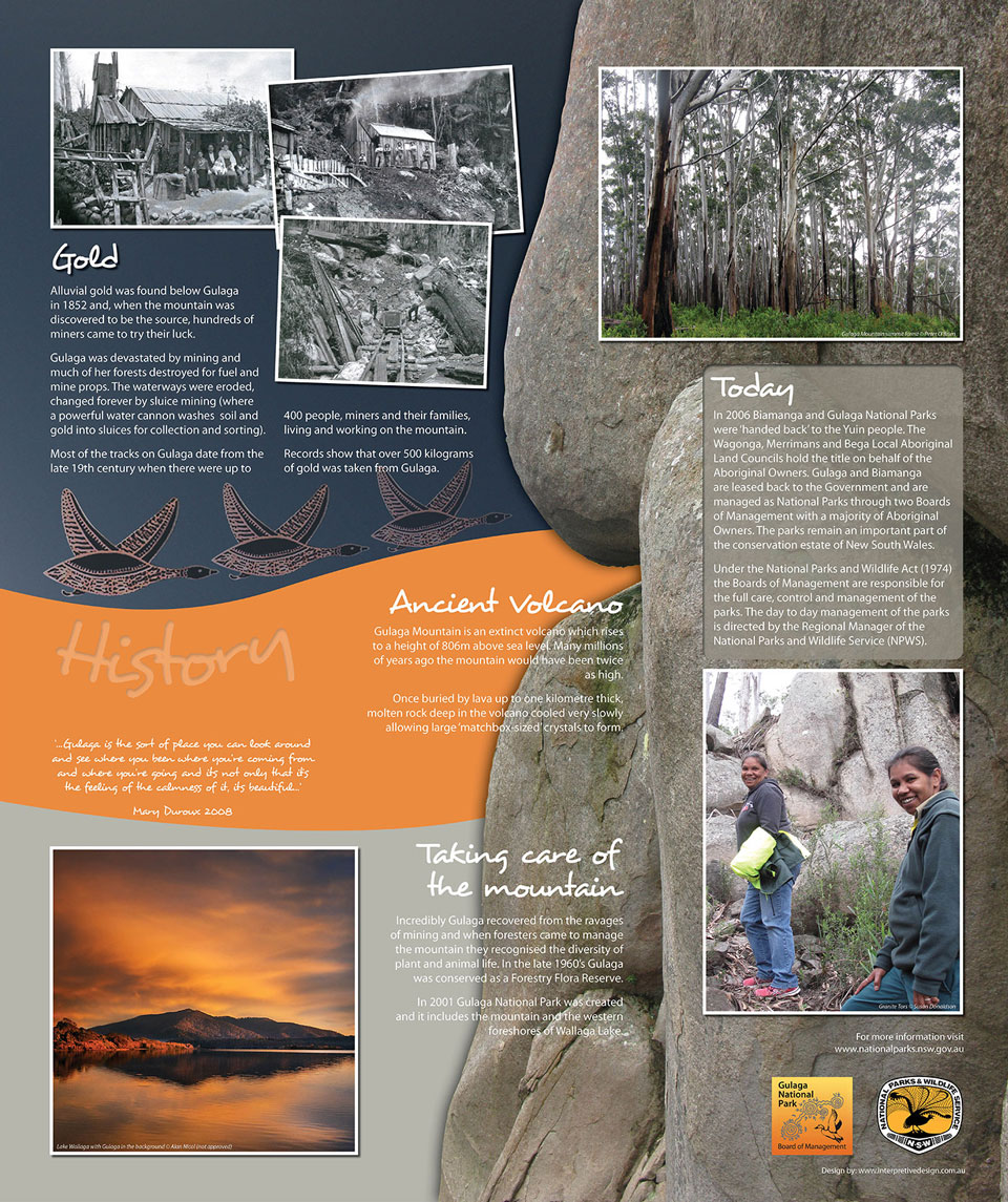 Gulaga Mountain aboriginal interpretive sign3