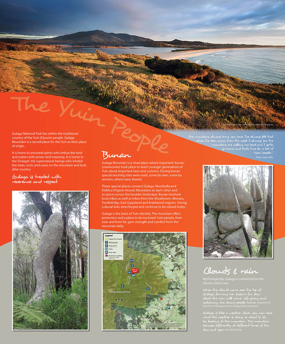 Gulaga Mountain aboriginal interpretive sign1