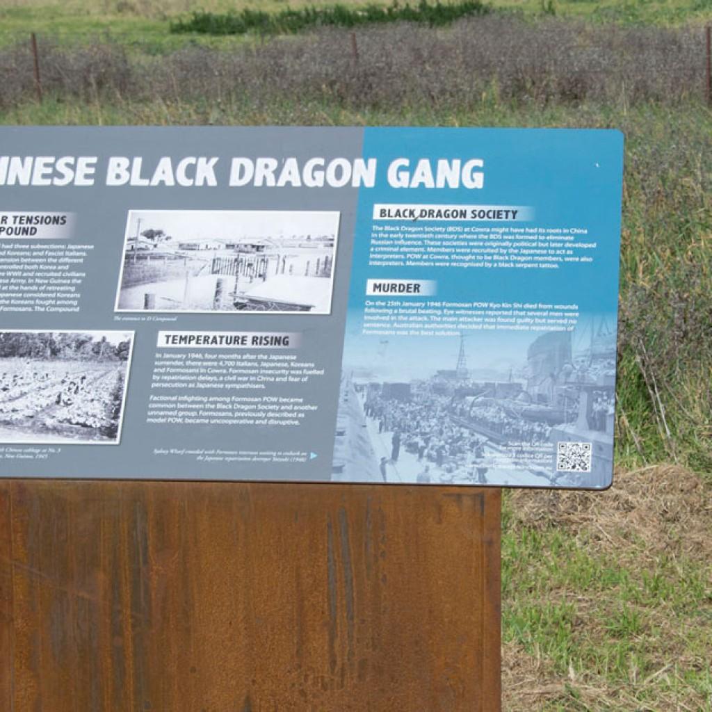 Cowra POW Camp Ruins Heritage Signage