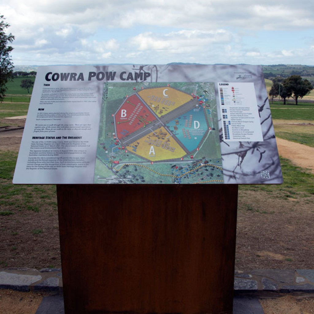 Cowra POW Camp Map Layout Heritage Signage