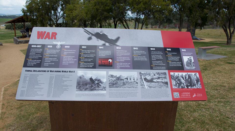 Cowra POW Camp Arrival Area Heritage Signage