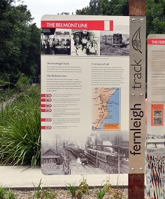 Rail Trails, Interpretive Signage