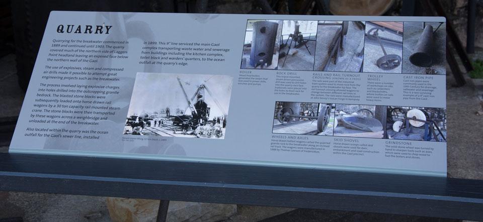 Trial Bay Gaol - Quarry Historic Signage