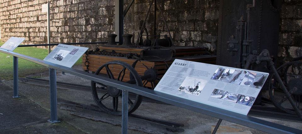 Trial Bay Gaol interpretive signage-Breakwater & Wharf