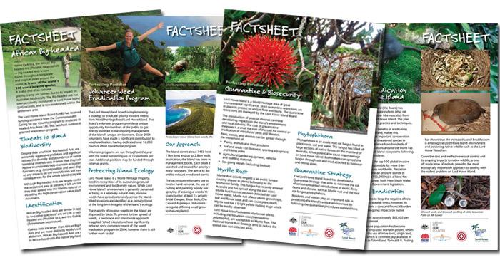 Lord Howe Island Factsheets