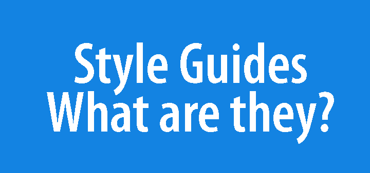 What is a style guide and what is a visual language?