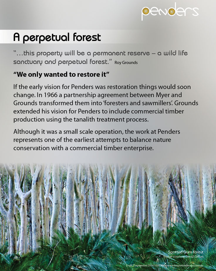 Heritage Interpretive Signage - A Perpetual Forest