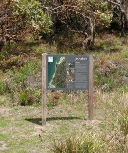 Penders trackhead sign