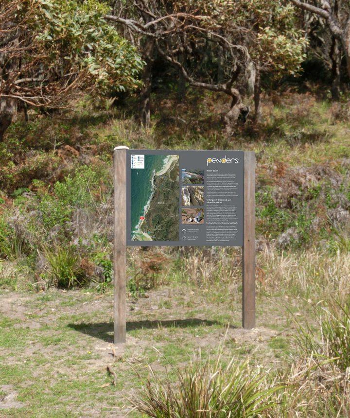 Wayfinding Signs, Penders Heritage site