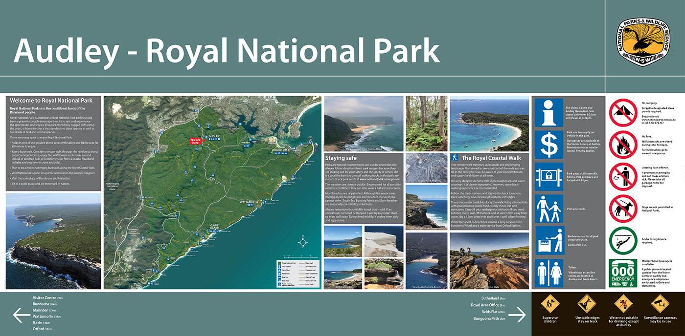 Royal NP Wayfinding SIgnage