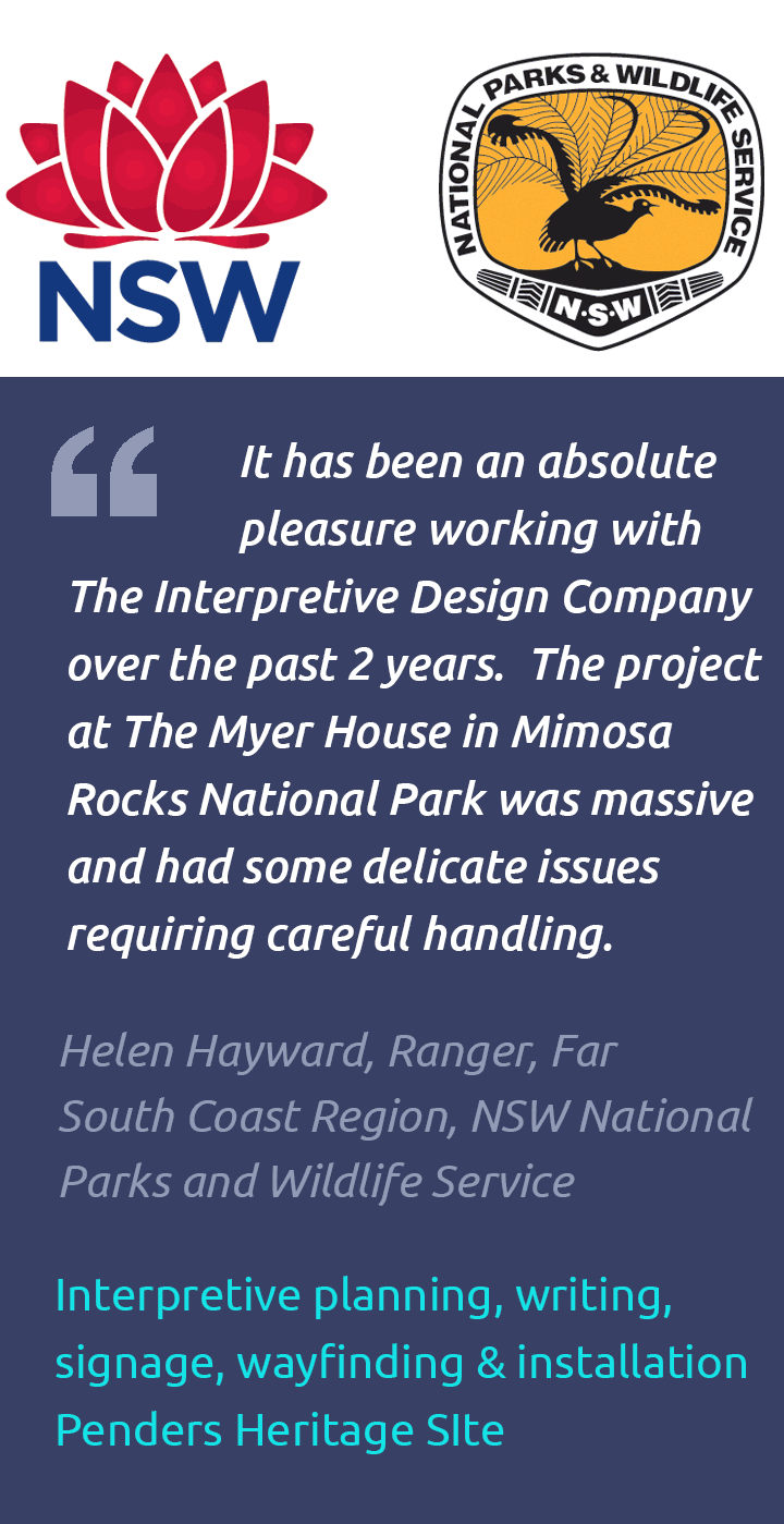 Interpretive plan testimonial, Penders