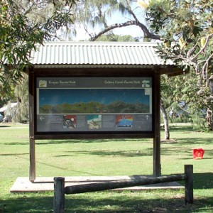 Solitary Islands Coastal Walk Red Rock Wayfinding Sign