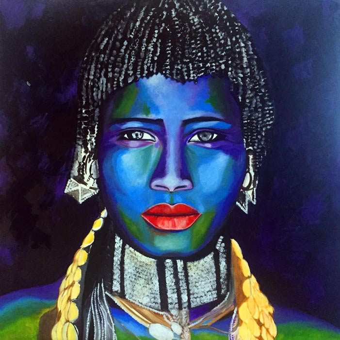 Painting by Dee - Ethiopia - East/West & Omo - John Kenny Photography
