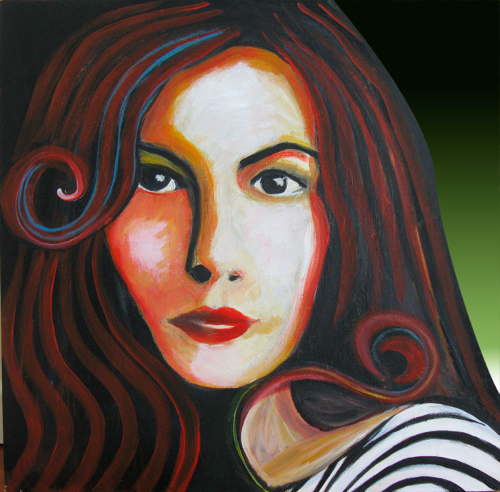 Liv Tyler painting