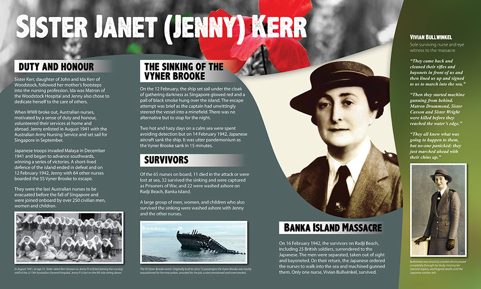 Jenny Kerr war memorial sign