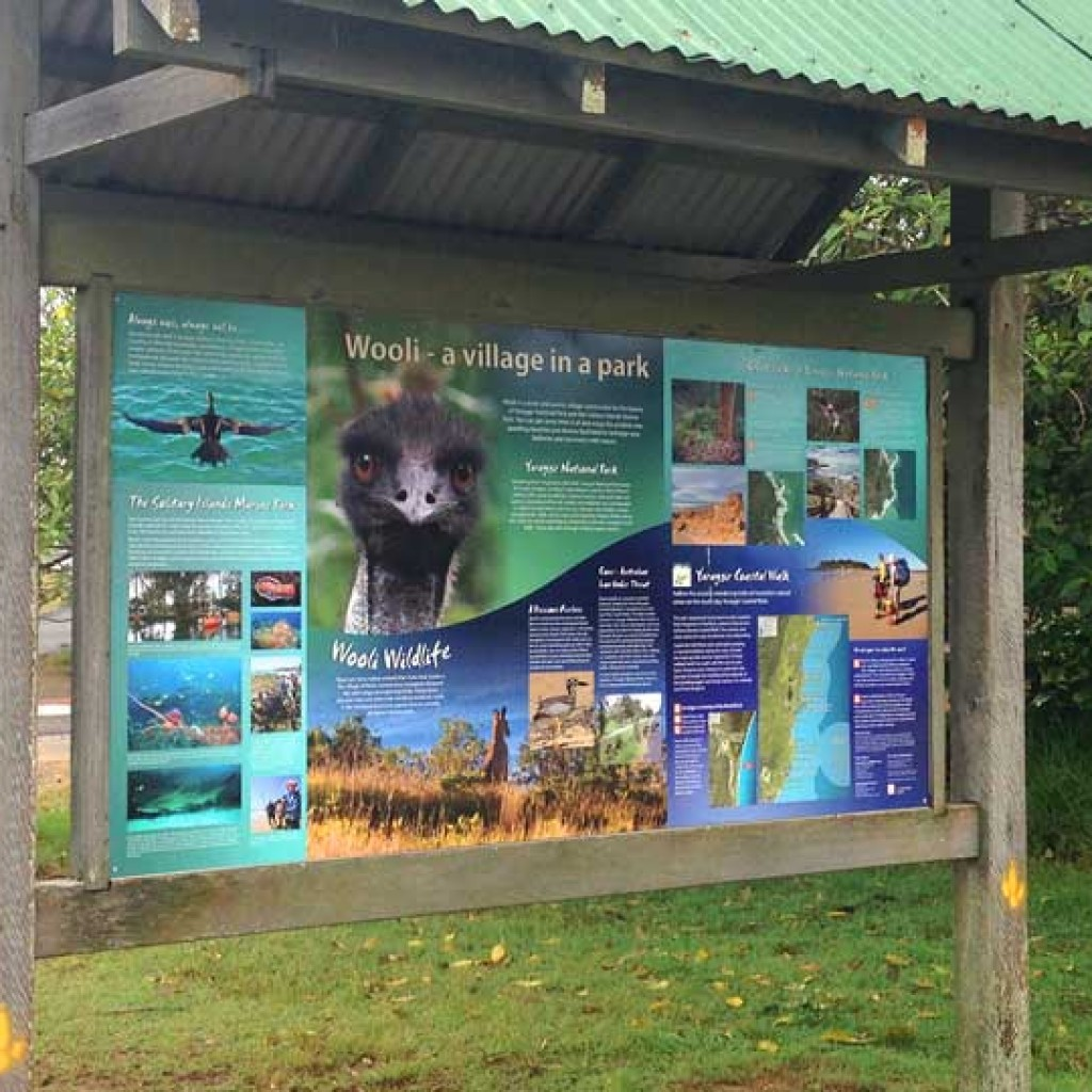 Wooli Tourist Information Sign