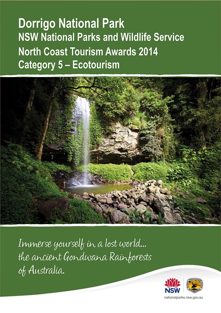Dorrigo Tourism award submission document