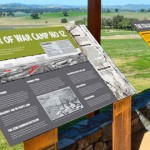 Cowra POW Camp Viewing Platform Signage