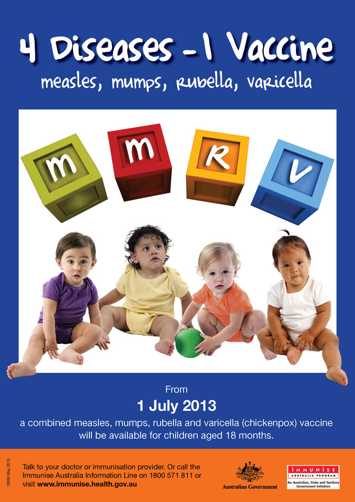 MMRV Vaccination Brochure Poster & Booklet