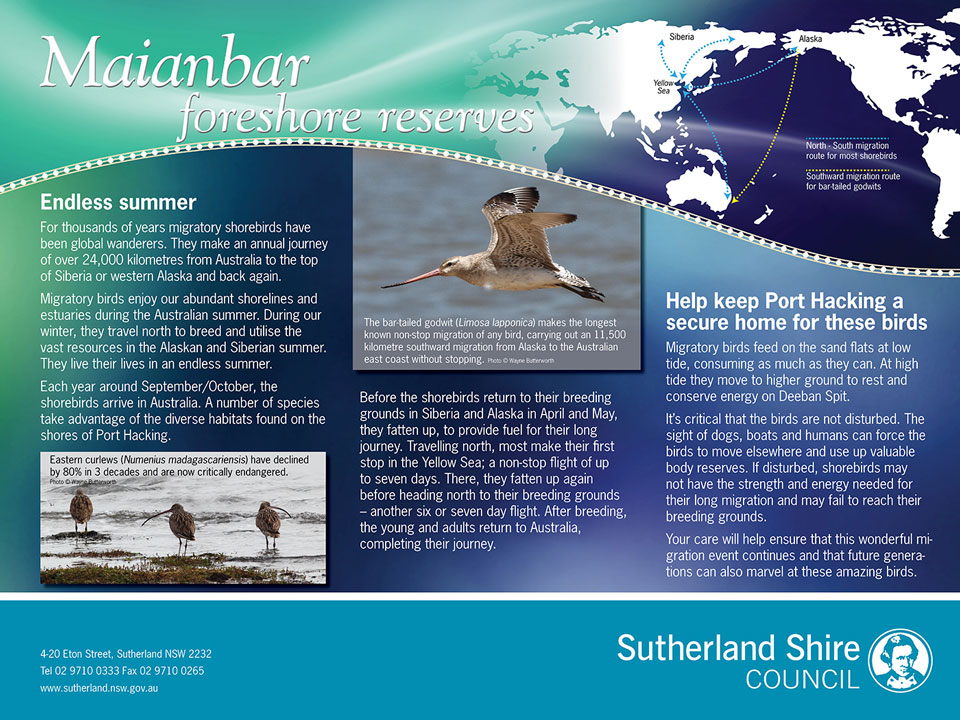 Sutherland Maianbar Environment Sign