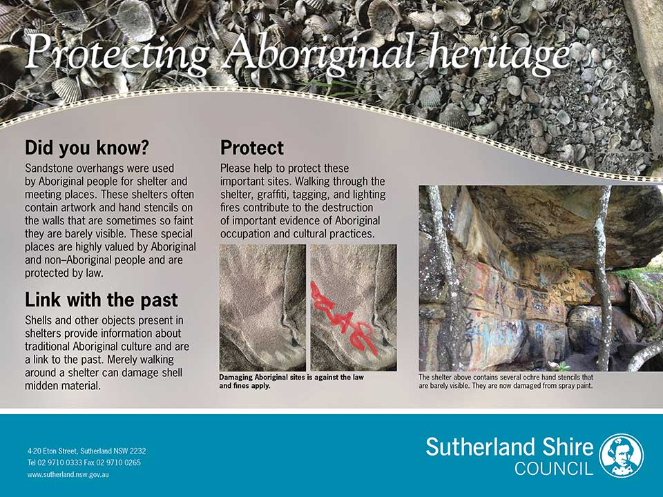 Protecting Aboriginal Heritage sign