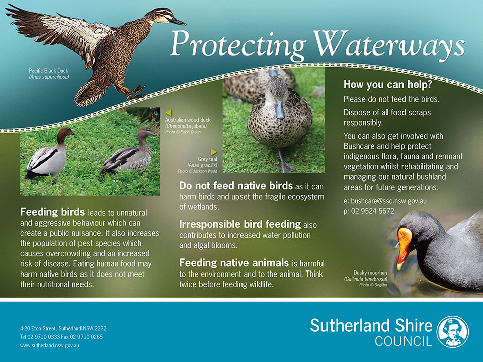 Protecting Waterways environmental signage