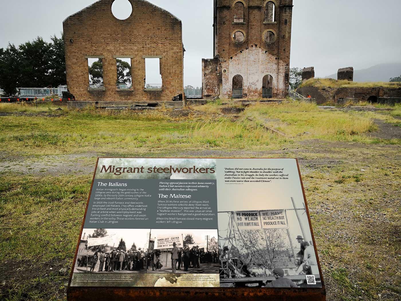 Blast Furnace heritage signs