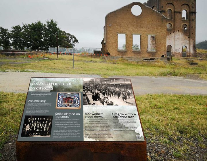 Heritage Interpretive Signage, Lithgow Blast Furnace