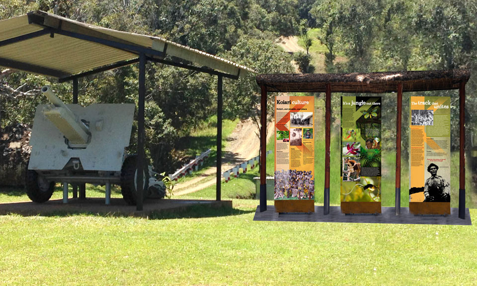 Kokoda Interpretive Signage Installation Design 1